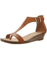 Kenneth Cole Reaction Great Gal T-strap Wedge Toffee 9.5 M Us - Brown