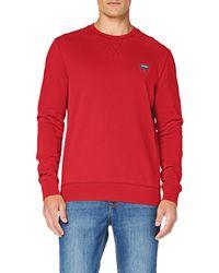 Wrangler Sign off Crew Sweater - Rosso