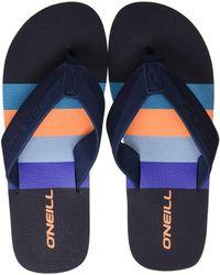 O'neill Sportswear FM Imprint Pattern Sandals Zehentrenner - Blau
