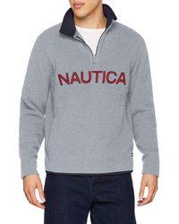 Nautica Logo NAUTEX 1/4 Zip Pullover Maillot de survêtement - Gris