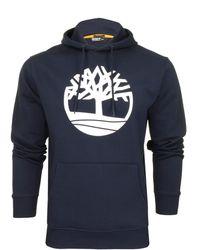 Timberland 'Tree Logo Hoodie' - con Cappuccio - Blu