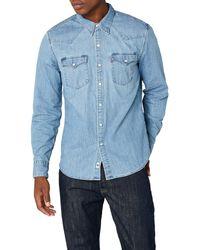 Levi's L/S Barstow Western Shirt - Azul