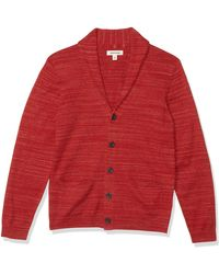 Goodthreads Soft Cotton Cardigan Summer Sweater Pull - Rouge