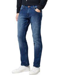 Wrangler Greensboro Straight Leg, Jeans Uomo, Blu (Blue Brushed 4Q), 35W/34L
