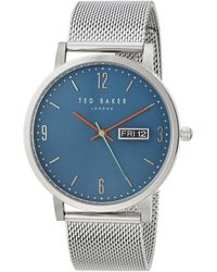 Ted Baker Analog Quartz Watch With Stainless Steel Strap Te15196013 - Blue