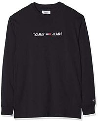 Tommy Hilfiger Tjm Longsleeve Small Logo Tee Camicia Sportiva Uomo - Nero