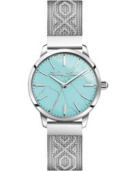Thomas Sabo S Analogue Quartz Watch With Stainless Steel Strap Wa0343-201-215-33 Mm - Blue