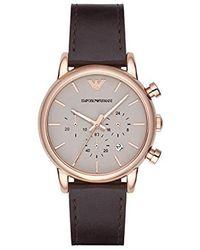 Emporio Armani Horloge AR11234 - Marron