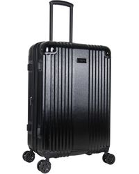 Kenneth Cole New York Tribeca 24-inch Lightweight Hardside Expandable 8-wheel Spinner Tsa Lock Checked Suitcase - Black