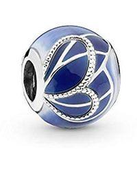 PANDORA Silver Bead Charm 797886enmx - Blue
