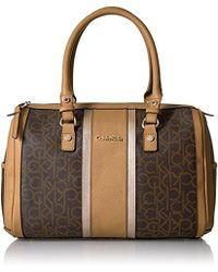 Calvin Klein - Monogram Bowling Bag Satchel - Lyst