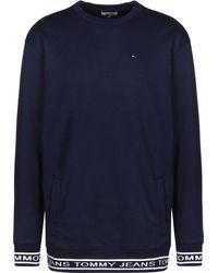 Tommy Hilfiger Rib Logo Crew Sweater - Blu