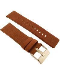 DIESEL DZ4296 Bracelet de rechange d'origine pour montre en cuir – 24 mm – - Marron