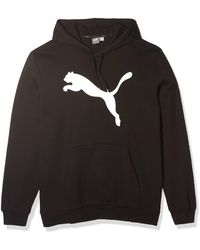 PUMA Essential Hoodie Fleece Big Cat Logo Sweatshirt - Nero