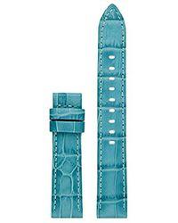 Michael Kors - Access Mkt9057 18mm Sofie Strap Leather Calfskin Blue Watch Strap - Lyst