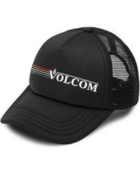 Volcom Into Paradise Trucker Foam Snapback Hat - Black