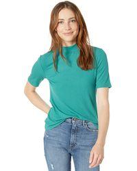 The Drop Joanna T-shirt côtelé à col montant et manches courtes - Vert