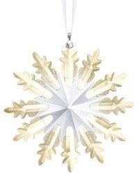 Swarovski Ornement Étoile d'hiver - Métallisé