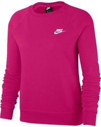 Nike Essential Fleece Sweater Sweatshirt - Pink