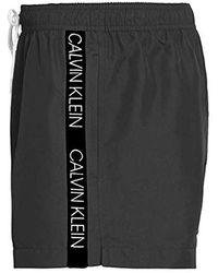 Calvin Klein Short Drawstring Badehose - Schwarz