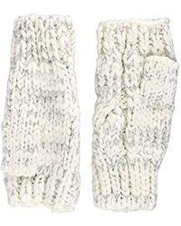 Dorothy Perkins Lurx Fingerless Gloves, Off-white (cream), One (size: 1)