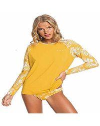 Roxy T-Shirt de Surf Pt Be Cl LY pour - Jaune