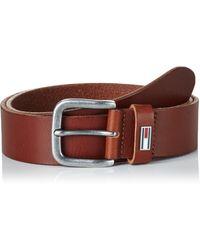 TOMMY HILFIGER Classic Belt 3.5 W80 Gürtel Accessoire Dark Tan Braun Neu