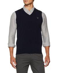 GANT Superfine Lambswool Slipover Pullover - Blau