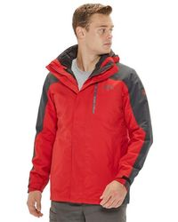 Jack Wolfskin Viking Sky 3-in-1 Hardshell Jacket - Red