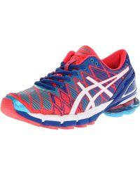 Asics Gel-kinsei 5 Running Shoe,hot Punch/white/royal,5 M Us - Multicolor