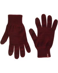 Levi's Ben Touch Screen Gloves Guanti - Rosso