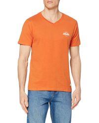 HIKARO Camiseta de Pico Hombre - Naranja