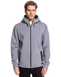 Quiksilver Zip-up Sherpa-lined Hoodie - - L - Grey
