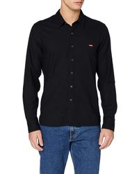 Levi's LS Battery Hm Shirt Camisa - Negro