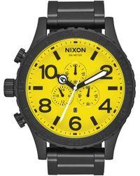 Nixon 51-30 Chrono All Black- Yellow A0833132 Watch Black Steel.