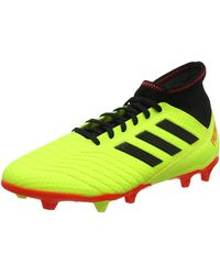 adidas Predator 18.2 FG, Chaussures de Football Homme - Jaune