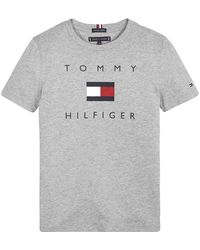 Tommy Hilfiger Th Logo Tee S/s Chemise - Gris