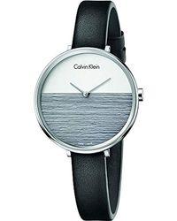 Calvin Klein Analogique Quartz Montre avec Bracelet en Cuir K7A231C3 - Multicolore