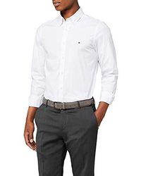 Tommy Hilfiger Core Stretch Slim Poplin Shirt, Chemise - Blanc