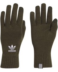adidas Originals Trefoil Warm Winter Smartphone Gloves Mens Womens Unisex - Green (medium)