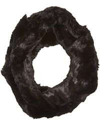 Badgley Mischka - Faux Chinchilla Double Face Twist Neck Warmer Scarf - Lyst