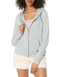 Roxy Perfect Wave Zip-Up Hooded Sweatshirt Kapuzenpullover - Grau
