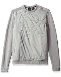 Armani Exchange -   Cotton Pullover With Pdded Logo - Lyst