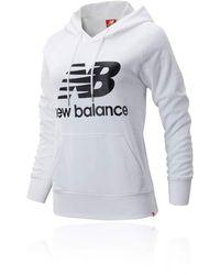 New Balance 91523 Essentials Pullover Hoodie - White