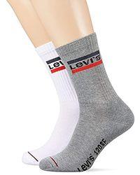 Levi's Levis 120sf Regular Cut Sprtswr Logo 2p Chaussettes, (Lot de 2) - Multicolore