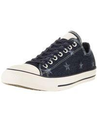 Converse Chuck Taylor all Star Ox-Sneaker Barely Fuchsie Rosa Wildleder - Blau