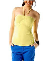 Vero Moda Ladies Yellow Halter Neck Top Size Xl