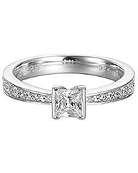Esprit - Ring 925 Silver Silver Solitaire Esrg91905a - Lyst