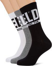 DIESEL Skm-ray-threepack Calf Socks - Black