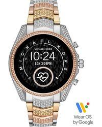 Michael Kors Smartwatch Bradshaw 2 Gen 5 Silber Gold Rose Diamanten MKT5105 - Mettallic